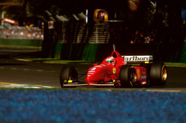 Albert Park, Melbourne, Australia.8-10 March 1996.Eddie Irvine (Ferrari F310) 3rd position.Ref-96 AUS 30.World Copyright - LAT Photographic