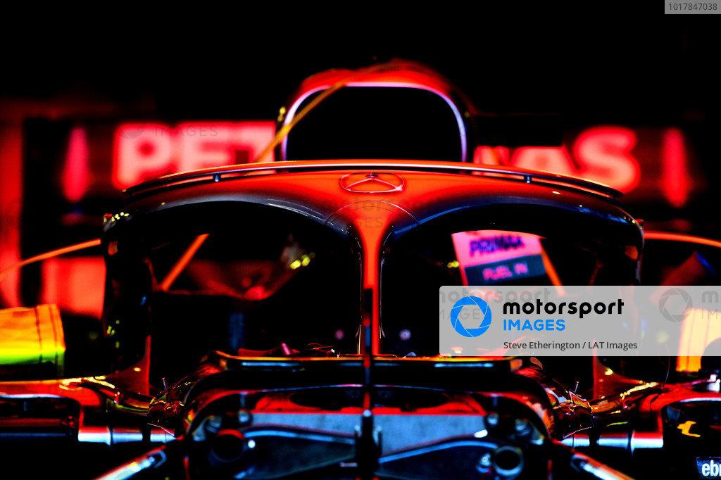 Mercedes AMG F1 W10 in the garage