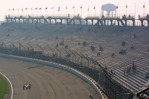 2002 American Grand Prix.Indianapolis, Indiana, USA. 27-29 September 2002.Michael Schumacher (Ferrari F2002) 2nd position.World Copyright - LAT Photographicref: Digital File Only