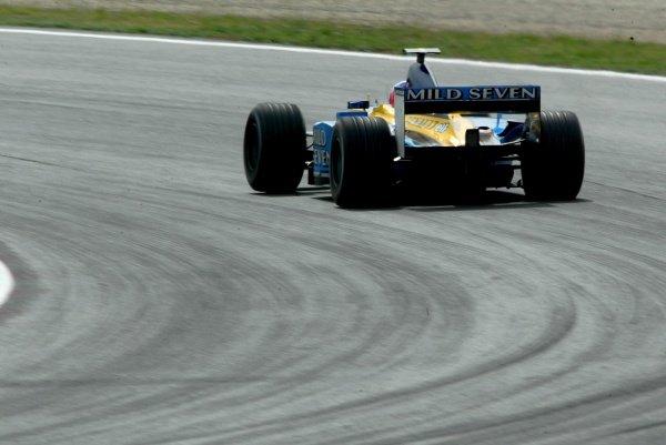Jenson Button (GBR) Renault R202Formula One Testing, Barcelona, Spain, 25 June 2002.
