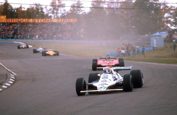 1980 United States Grand Prix East.Watkins Glen, New York, USA.3-5 October 1980.Alan Jones (Williams FW07B Ford) 1st position.Ref-80 USA 02.World Copyright - LAT Photographic