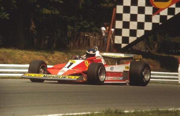 1978 British Grand Prix.Brands Hatch, England.14-16 July 1978.Carlos Reutemann (Ferrari 312T3) 1st position.Ref-78 GB 02.World Copyright - LAT Photographic