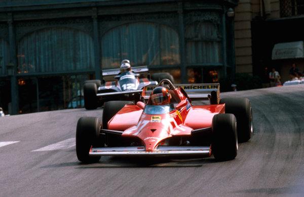 1981 Monaco Grand Prix. Monte Carlo, Monaco. 28-31 May 1981. Gilles Villeneuve (Ferrari 126CK) 1st position at Casino. Ref-81MON42. World Copyright - LAT Photographic