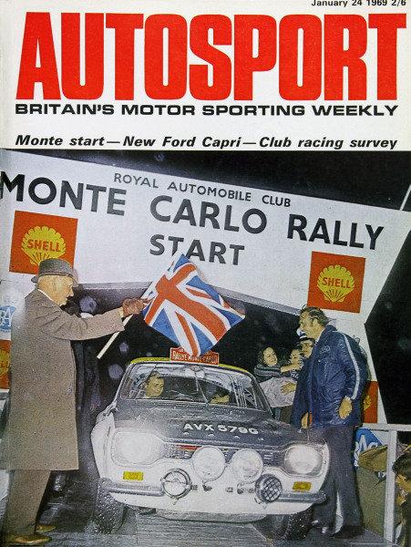 Cover of Autosport magazine, 24th January 1969
