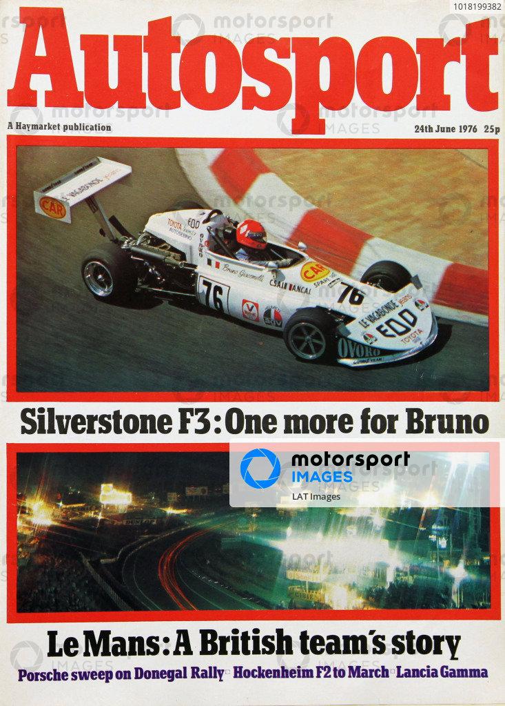 Cover of Autosport magazine, 24th June 1976