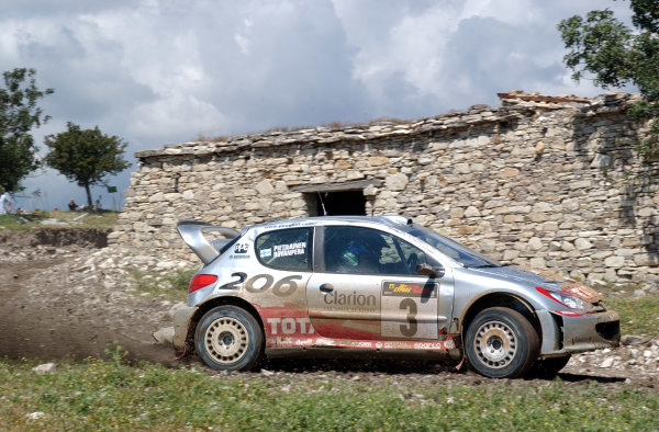 World Rally Championship, Cyprus Rally, April 18-21, 2002.Harri Rovanpera in action on Stage 17, Leg 3.Photo: Ralph Hardwick/LAT