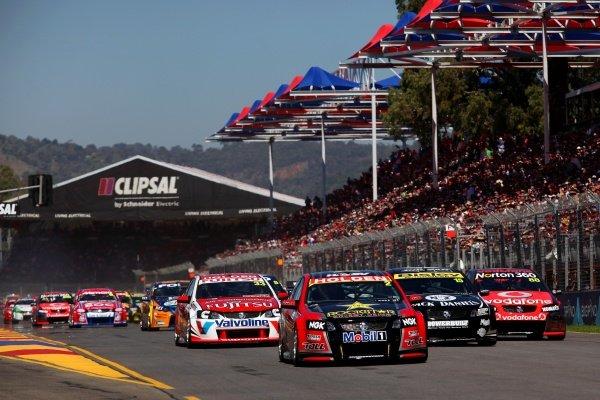 Garth Tander (AUS), Holden Commodore VE2, won Saturday's race.Australian V8 Supercars, Rd2, Clipsal 500, Adelaide, Australia, 19-20 March 2011.