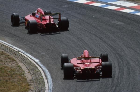 The Ferrari pair of Nigel Mansell and Alain Prost  German GP, Hockenheim, Germany, 29 July 1990