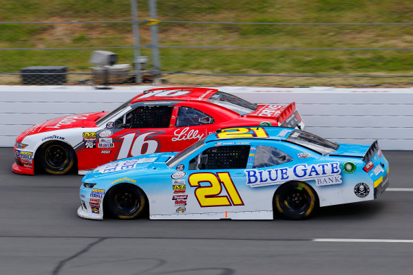 NASCAR XFINITY Series Pocono Green 250 Pocono Raceway, Long Pond, PA USA Saturday 10 June 2017 Daniel Hemric, Blue Gate Bank Chevrolet Camaro and Ryan Reed, Lilly Diabetes Ford Mustang World Copyright: Russell LaBounty LAT Images ref: Digital Image 17POC1rl_03630