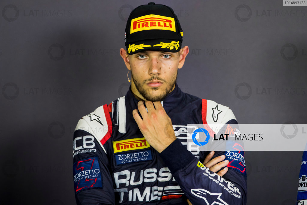 2017 FIA Formula 2 Round 6. Silverstone, Northamptonshire, UK. Sunday 16 July 2017. Luca Ghiotto (ITA, RUSSIAN TIME).  Photo: Zak Mauger/FIA Formula 2. ref: Digital Image _56I0851