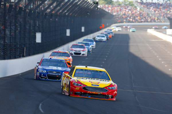 Monster Energy NASCAR Cup Series Brickyard 400 Indianapolis Motor Speedway, Indianapolis, IN USA Sunday 23 July 2017 Joey Logano, Team Penske, Shell Pennzoil Ford Fusion and Jamie McMurray, Chip Ganassi Racing, Chevrolet SS World Copyright: Russell LaBounty LAT Images