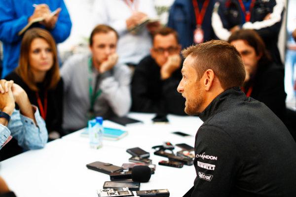 Suzuka Circuit, Japan. Friday 06 October 2017. Jenson Button, McLaren.  World Copyright: Steven Tee/LAT Images  ref: Digital Image _O3I6432