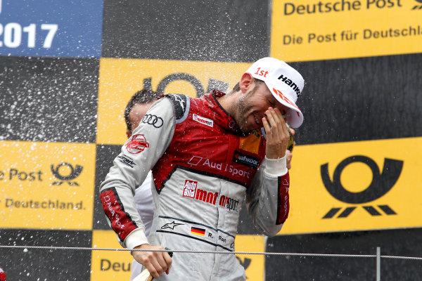 2017 DTM Round 8  Red Bull Ring, Spielberg, Austria  Sunday 24 September 2017. Podium: René Rast, Audi Sport Team Rosberg, Audi RS 5 DTM  World Copyright: Alexander Trienitz/LAT Images ref: Digital Image 2017-DTM-RBR-AT3-2815