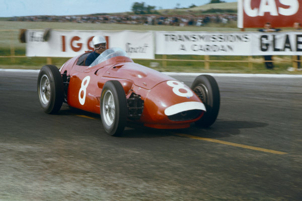 Reims, France. 29/6-1/7 1956. Piero Taruffi (Maserati 250F).  Ref-56 FRA 10. World Copyright - LAT Photographic