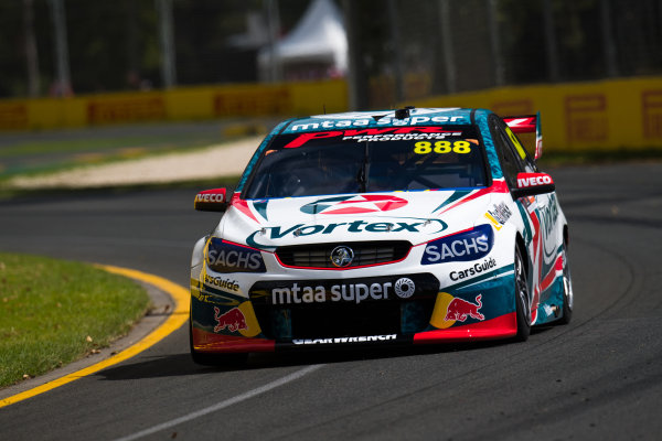 2017 Supercars Championship, Australian Grand Prix Support Race, Albert Park, Victoria, Australia. Thursday March 23rd to Sunday March 26th 2017. Craig Lowndes drives the #888 TeamVortex Holden Commodore VF. World Copyright: Daniel Kalisz/LAT Images Ref: Digital Image 230217_VASCAUSGP_DKIMG_0359.JPG