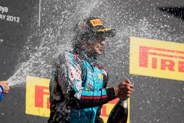 2017 GP3 Series Round 1.  Circuit de Catalunya, Barcelona, Spain. Sunday 14 May 2017. Arjun Maini (IND, Jenzer Motorsport)  Photo: Zak Mauger/GP3 Series Media Service. ref: Digital Image _54I9521