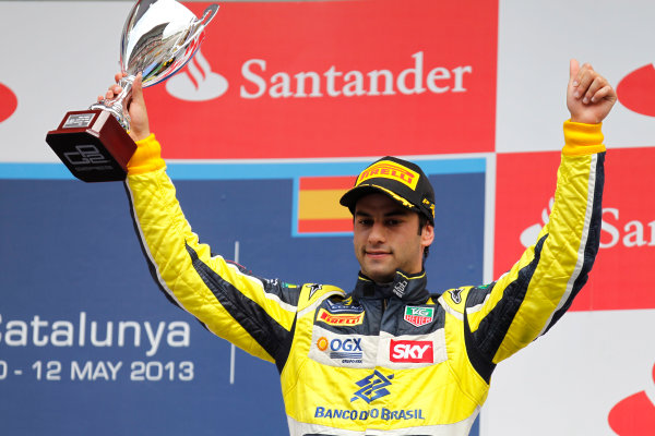 2013 GP2 Series. Round 3.  Circuit de Catalunya, Barcelona Spain. 12th May 2013. Sunday Race. Felipe Nasr (BRA, Carlin). World Copyright: Alastair Staley/GP2 Series Media Service. Ref: _A8C4244
