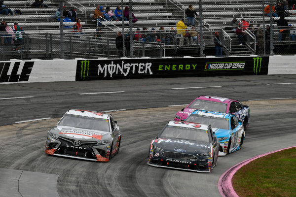 Monster Energy NASCAR Cup Series First Data 500 Martinsville Speedway, Martinsville VA USA Sunday 29 October 2017 Corey LaJoie, BK Racing, Schluter Systems Toyota Camry, David Ragan, Front Row Motorsports, TheHouse.com Ford Fusion World Copyright: Scott R LePage LAT Images ref: Digital Image lepage-171029-mart-8079