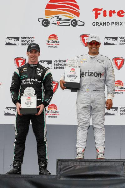 11-13 March, 2016, St. Petersburg, Florida USA 22 Simon Pagenaud, 2 Juan Pablo Montoya, podium ?2016, Michael L. Levitt LAT Photo USA