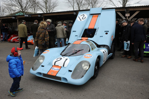 2016 74th Members Meeting Goodwood Estate, West Sussex,England 19th - 20th March 2016 GP5 Sports Cars Demo Porsche 917 World Copyright : Jeff Bloxham/LAT Photographic Ref : Digital Image