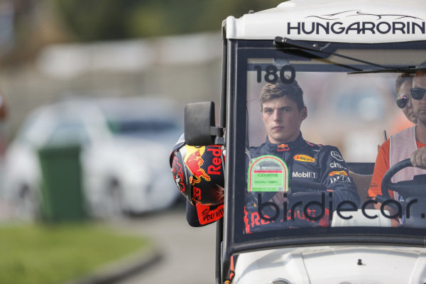 Max Verstappen, Red Bull Racing retires from the race.