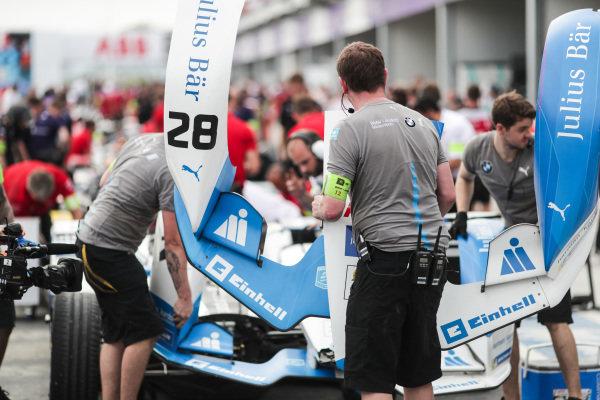 Nose of Antonio Felix da Costa (PRT), BMW I Andretti Motorsports, BMW iFE.18 replaced