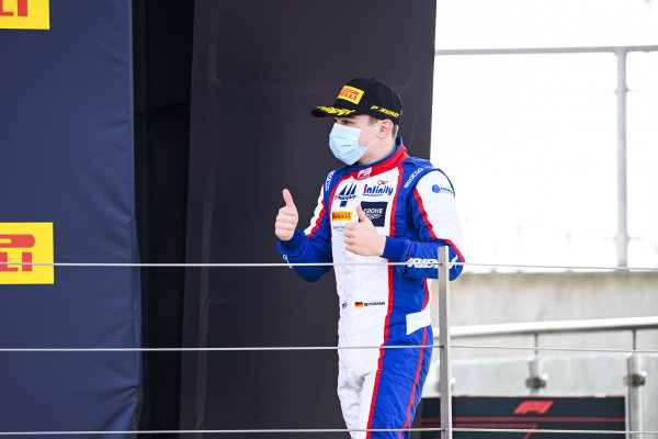 David BECKMAN (DEU, TRIDENT MOTORSPORT) celebrates on the podium