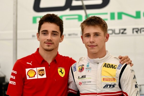 Charles Leclerc, Ferrari, and Sauber Junior Team F4 racer Arthur Leclerc