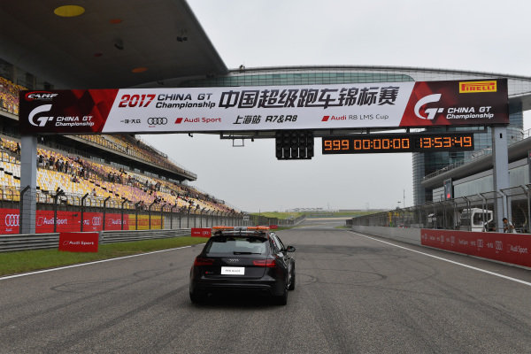 Audi RS7 Avant safety car on the grid before Race One at Audi R8 LMS Cup, Rd7 and Rd8, Shanghai, China, 8-10 September 2017.