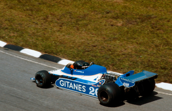 1979 Brazilian Grand Prix.Interlagos, Sao Paulo, Brazil.2-4 February 1979.Jacques Laffite (Ligier JS11 Ford) 1st position.Ref-79 BRA 03.World Copyright - LAT Photographic