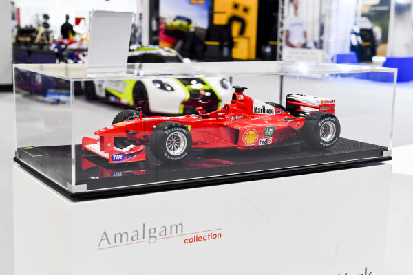 The Motorsport Images stand, incorporating displays from LAT Images, Sutton Images, Ercole Colombo, Rainer Schlegelmilch, Giorgio Piola and Amalgam Models.