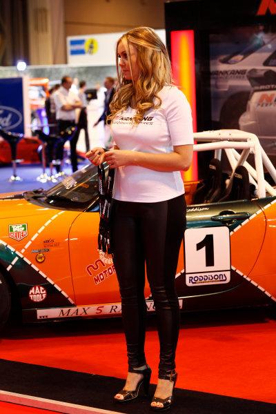 Autosport International Show NEC, Birmingham.  Sunday 12 January 2014. Girl. World Copyright:Adam Warner/LAT Photographic ref: Digital Image _MG_8270