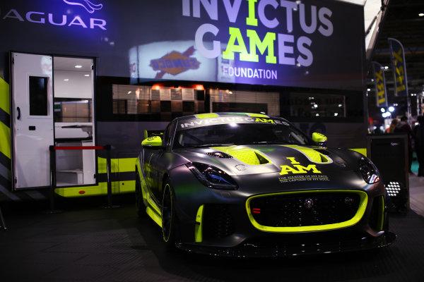 Autosport International Exhibition. National Exhibition Centre, Birmingham, UK. Sunday 14th January 2018. The Invictus Games Jaguar F-Type GT4. World Copyright: Mike Hoyer/JEP/LAT Images Ref: MDH10266