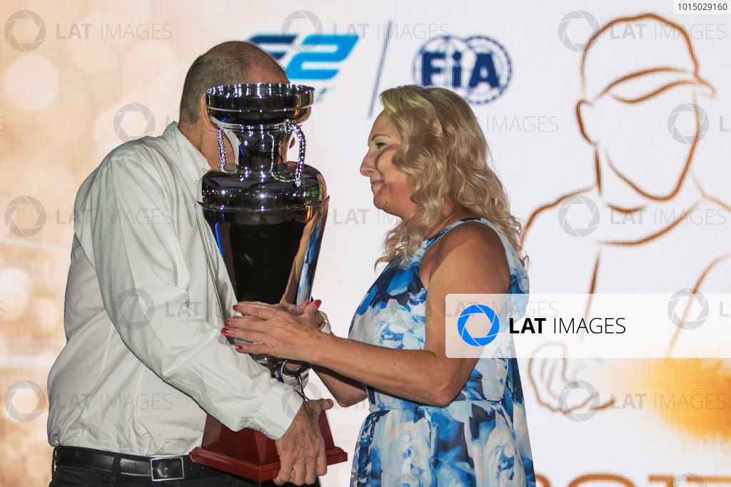 2017 Awards Evening. Yas Marina Circuit, Abu Dhabi, United Arab Emirates. Sunday 26 November 2017.  Photo: Zak Mauger/FIA Formula 2/GP3 Series. ref: Digital Image _56I3887