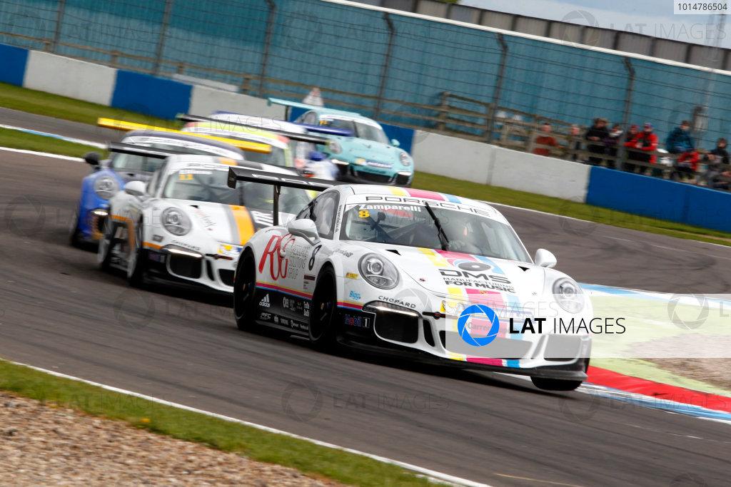 2017 Porsche Carrera Cup, Donington Park, 15th-16th April 2017, Dino Zamparelli (GBR) JTR Porsche Carrera Cup World Copyright. JEP/LAT Images