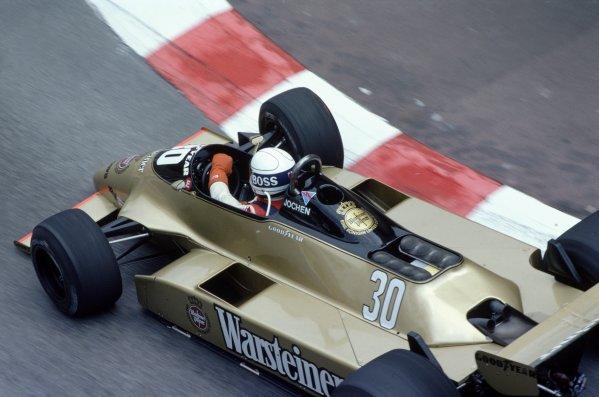 1980 Monaco Grand Prix.Monte Carlo, Monaco. 15-18 May 1980.Jochen Mass (Arrows A3-Ford Cosworth), 4th position.World Copyright: LAT PhotographicRef: 35mm transparency 80MON10