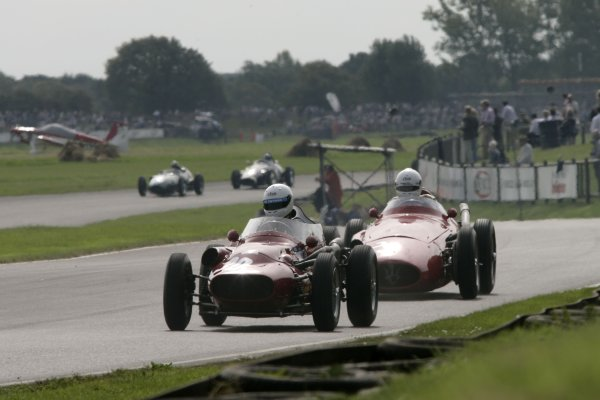 2007 Goodwood Revival Meeting.  Goodwood, West Sussex. 1st - 2nd September 2007.  Richmond Trophy.  Barry Baxter leads Mark Hales into Lavant. World Copyright: Gary Hawkins/LAT Photographic  ref: Digital Image Only