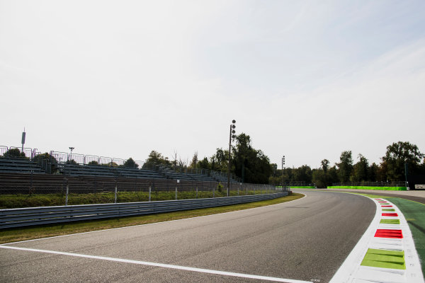 2017 GP3 Series Round 6.  Autodromo Nazionale di Monza, Monza, Italy. Thursday 31 August 2017. A view of the exit of Parabolica. Photo: Zak Mauger/GP3 Series Media Service. ref: Digital Image _56I4878