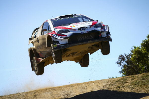 High flying Esapekka Latvala at Mickey's Jump on Rally d'Italia Sardinia