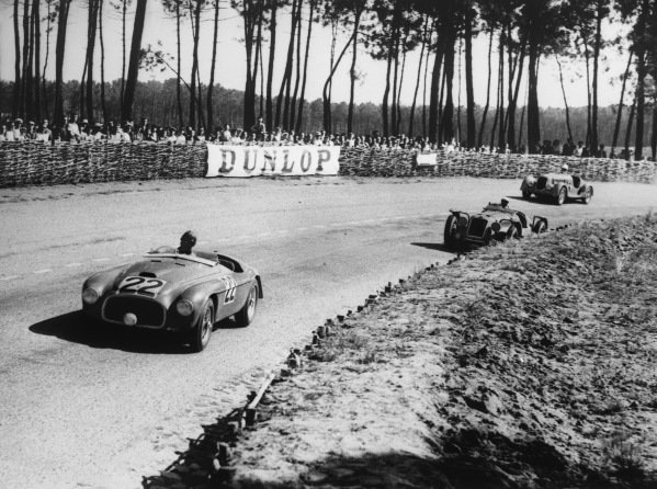 Le Mans, France. 25th - 26th June 1949.Luigi Chinetti/Lord Selsdon (Ferrari 166MM), 1st position, action.World Copyright: LAT Photographic.Ref: Autocar Glass Plate C24757.