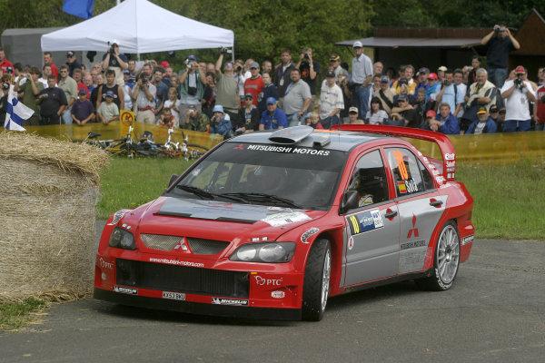 2004 FIA World Rally Champs. Round ten, OMV Deutschland Rally.19th - 22nd August 2004.Daniel Sola, Mitsubishi, action.World Copyright: McKlein/LAT