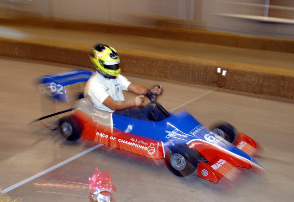2003 Milwaukee ChampCar, 31 May, 2003, Milwaukee, Wisconsin, USABruno Junqueira goes karting at the March of Dimes Race of Champions-2003, Phil Abbott, USALAT Photographic