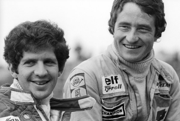 (L to R): Tyrrell team mates Jody Scheckter (RSA) and Patrick Depailler (FRA) finished the race in fifth and seventh place respectively.Dutch Grand Prix, Rd 12, Zandvoort, Holland, 29 August 1976.