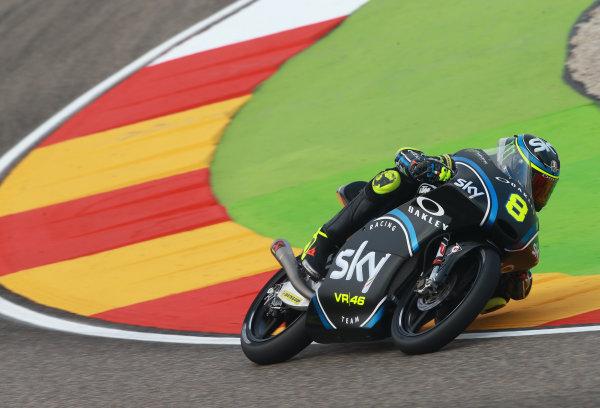 2017 Moto3 Championship - Round 14 Aragon, Spain. Saturday 23 September 2017 Nicolo Bulega, Sky Racing Team VR46 World Copyright: Gold and Goose / LAT Images ref: Digital Image 14013