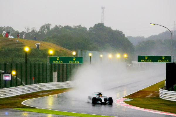 Suzuka Circuit, Japan. Friday 6 October 2017. Lewis Hamilton, Mercedes F1 W08 EQ Power+.  World Copyright: Charles Coates/LAT Images  ref: Digital Image AN7T5073