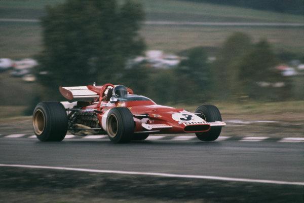 Watkins Glen, New York, USA. 4th October 1970. Jacky Ickx (Ferrari 312B), 4th position, action. World Copyright: LAT Photographic. Ref:  70 USA 04.