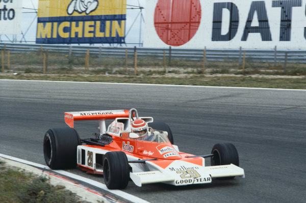 Zandvoort, Holland. 25-27 August 1978. Nelson Piquet (McLaren M23-Ford), retired, action.  World Copyright: LAT Photographic. Ref: 78HOL26