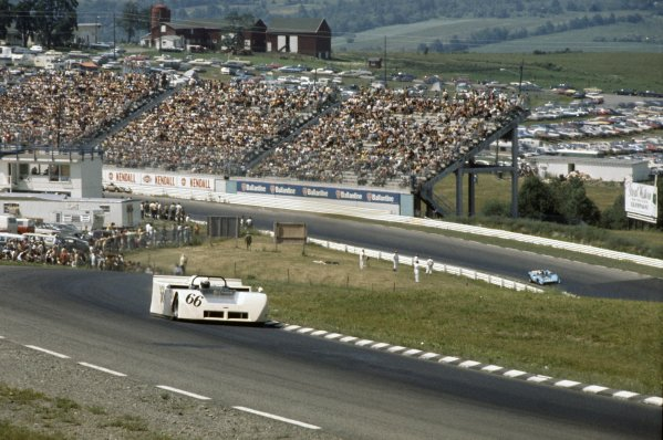 1970 Can-Am Challenge Cup.CanAm race. Watkins Glen, New York State, United States (USA). 12 July 1970.Jackie Stewart (Chaparral 2J-Chevrolet), retired.World Copyright: LAT PhotographicRef: 35mm transparency 70CANAM13