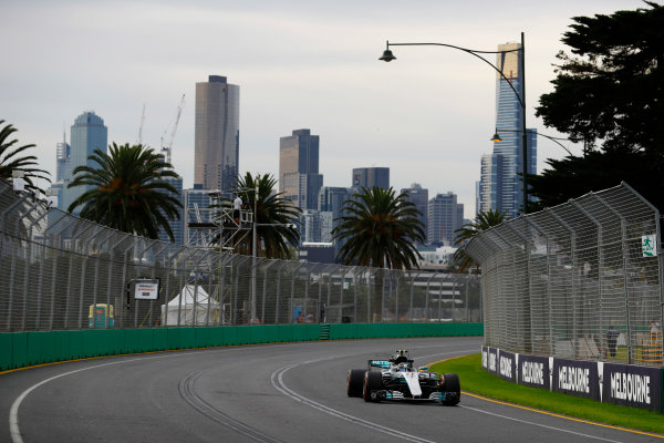 Albert Park, Melbourne, Australia. Friday 24 March 2017. Valtteri Bottas, Mercedes F1 W08 EQ Power+. World Copyright: Steven Tee/LAT Images ref: Digital Image _O3I1225