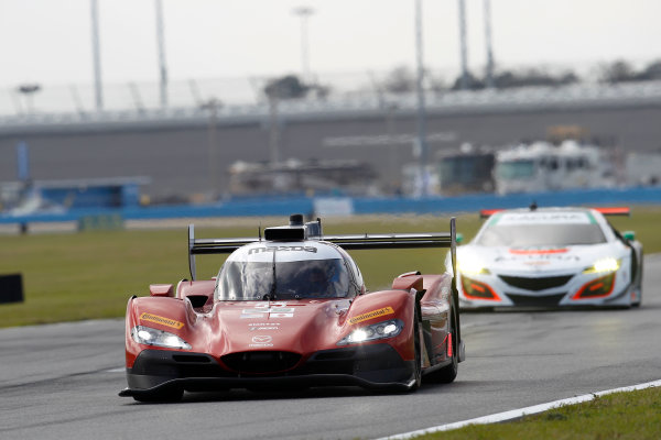 2017 Rolex 24 Hours. Daytona, Florida, USA Thursday 26 January 2017. #55 Mazda Motorsports Mazda DPi: Jonathan Bomarito, Tristan Nunez, Spencer Pigot World Copyright: Alexander Trienitz/LAT Images ref: Digital Image 2017-24h-Daytona-AT2-0118
